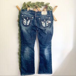 Miss Me Sequin Pocket Boot Cut Jeans